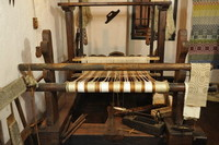 A loom for weaving. Half 1800s